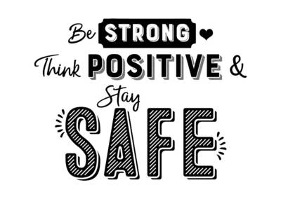 kaart-be-strong-think-positive-en-stay-safe